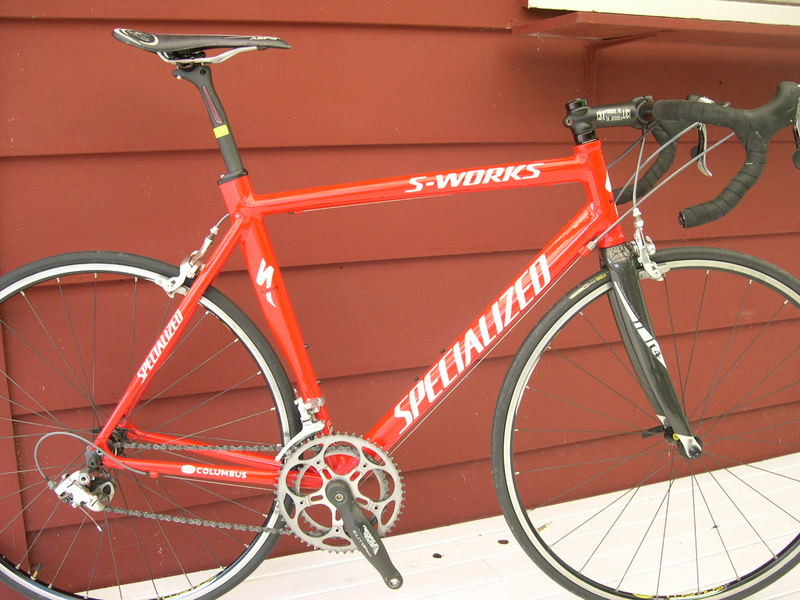 2003 Specialized S Works E5 Aerotec Aluminum Frame 58cm. Specialized C4  Carbon Fork. 3T 31.8 Bars. 3T 31.8 Forgie Stem, 110mm